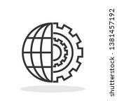 global progress icon in trendy...