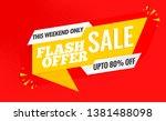 flash sale banner template... | Shutterstock .eps vector #1381488098