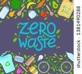 zero waste concept.vector... | Shutterstock .eps vector #1381490288