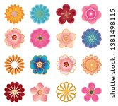 chinese decorative icons ...   Shutterstock .eps vector #1381498115