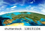 europe landscape from space....   Shutterstock . vector #138151106