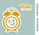 illustration of clock and time...   Shutterstock .eps vector #138152222
