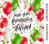 italian republic day vector... | Shutterstock .eps vector #1381535318