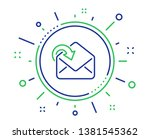 receive mail download line icon.... | Shutterstock .eps vector #1381545362