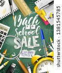 back to school sale concept... | Shutterstock .eps vector #1381545785