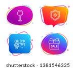 medical shield  bordeaux glass... | Shutterstock .eps vector #1381546325