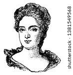 queen anne of england  1665...   Shutterstock .eps vector #1381549568