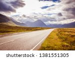 Asphalted  Dramatic Road In...