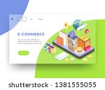 shopping e commerce isometric...
