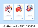collection of three isometric... | Shutterstock .eps vector #1381555058