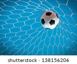 soccer in goal | Shutterstock . vector #138156206