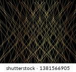 gold luxurious line pattern...   Shutterstock .eps vector #1381566905