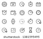 time line icon set  schedule... | Shutterstock .eps vector #1381595495
