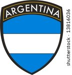 argentina patch vector flag | Shutterstock .eps vector #13816036