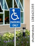 parking space reserved for... | Shutterstock . vector #1381621355