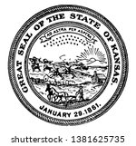 the great seal of the state of... | Shutterstock .eps vector #1381625735