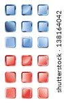 set of blue and red buttons for ... | Shutterstock .eps vector #138164042