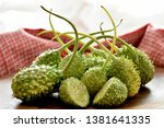 The Green Gherkin Vegetable On...