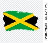 flag of jamaica from brush...