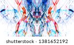symmetry and reflection. light... | Shutterstock . vector #1381652192
