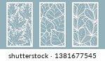 set. leaves  maple  chestnut ... | Shutterstock .eps vector #1381677545