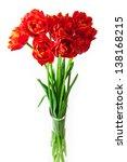 beautiful bouquet of tulips in... | Shutterstock . vector #138168215
