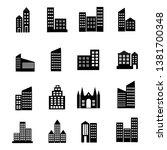 building and skyscraper icon... | Shutterstock .eps vector #1381700348