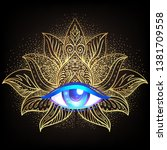 sacred geometry symbol with all ... | Shutterstock .eps vector #1381709558