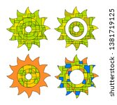 abstract the sun  the contour... | Shutterstock .eps vector #1381719125