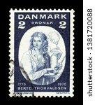 denmark   circa 1970  a stamp...   Shutterstock . vector #1381720088