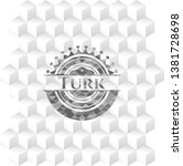 turk realistic grey emblem with ... | Shutterstock .eps vector #1381728698