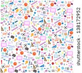 seamless pattern with colorful... | Shutterstock .eps vector #138172952