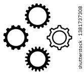 gear icon symbol set. vector... | Shutterstock .eps vector #1381737308
