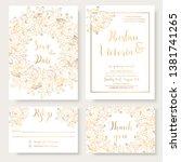 wedding invitation template... | Shutterstock .eps vector #1381741265