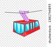istanbul tram icon. cartoon... | Shutterstock .eps vector #1381744895