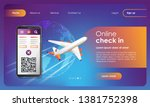 flights check in web banner....