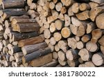 Stack Of Old Firewood Texture...
