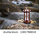 sand running through the shape... | Shutterstock . vector #1381788818