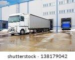 unloading big container trucks... | Shutterstock . vector #138179042