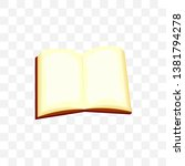 open book isolated vector...