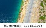 Aerial  Top Down  Car Cruises...