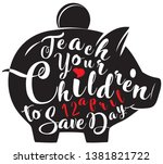 holiday symbol teach your... | Shutterstock .eps vector #1381821722