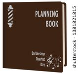 book planning for the date... | Shutterstock .eps vector #1381821815