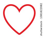 red heart design icon with a...   Shutterstock .eps vector #1381822082