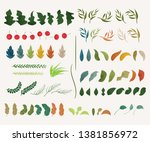 hand drawn decoration leaves... | Shutterstock .eps vector #1381856972