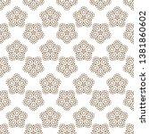 seamless floral pattern  white... | Shutterstock .eps vector #1381860602
