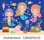 vector illustration of cute... | Shutterstock .eps vector #1381876115