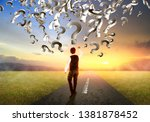 business man thinking in new way | Shutterstock . vector #1381878452