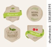 set of organic labels and... | Shutterstock .eps vector #1381885595