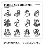 people and lifestyle icon set... | Shutterstock .eps vector #1381899758